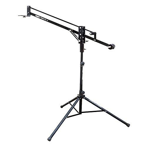 "FILMCITY Flylite 4ft/48"" Mini Jib Arm with Pan & Tilt Locks & Dual Mounting Provision + Tripod Stand & LCD Bracket| Best Travel Aluminum Crane for DSLR Video Camera up to 10kg/22lb +Bag (FLT-PRO-4-JS)"