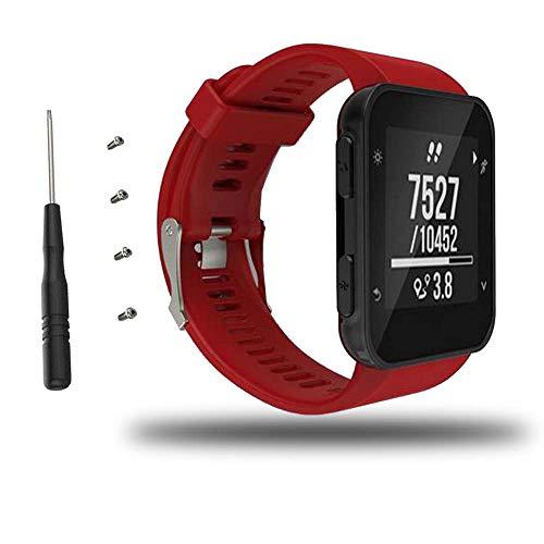 Bemodst Armband für Garmin Forerunner 35 Watch, Silikon Handgelenk Uhrenarmband Fitness Sport Ersatz Uhrband Wechselarmbänder für Garmin Forerunner 35 Smartwatch (Rot)