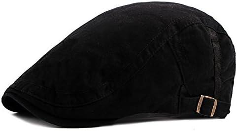Men Women Summer Cotton Adjustable Painter Berets Caps Casual Outdoor Ivy Visor Forward Hat AZHAO (Color : Color Black, Size : One Size)