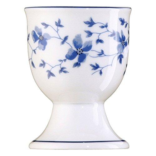 Arzberg 6 Stück Blaublüten Eierbecher 41382-607671-15520 und 4er Set EKM Living Edelstahl Strohhalme