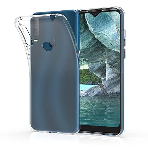 kwmobile Hülle kompatibel mit Alcatel 1S (2020) - Silikon Handyhülle transparent - Handy Hülle in Transparent