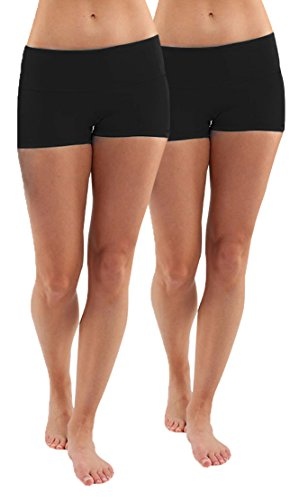 iloveSIA 2X Shorts Sport Damen Schwarz Hotpants Unterwäsche Running Athletic Panties L