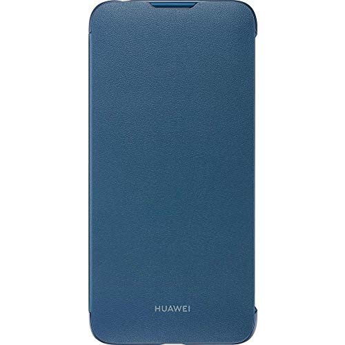 Huawei Flip Cover Original Y7 2019, Colour Blu in Eco Leather