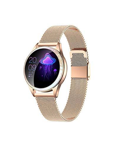 Roneberg rkw20 Reloj inteligente para mujer con rastreador de actividad 9 modos de entrenamiento a elegir (dorado)