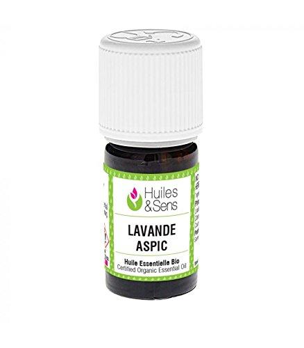 Huiles & Sens - huile essentielle lavande aspic (bio) - 5 ml
