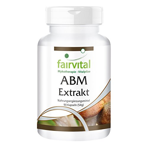 Agaricus Extrakt 500mg - ABM Kapseln (Agaricus Blazei Murill) - HOCHDOSIERT - 45% Polysaccharide - VEGAN - 90 Kapseln - standardisiert auf 45% Polysaccharid