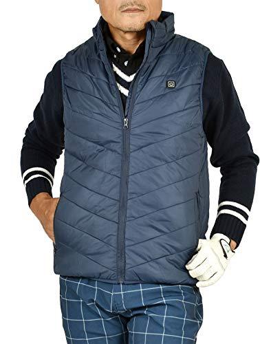 【サンタリート】 Santareet メンズ 冬ゴルフが楽しくなる 電熱 防寒 中綿 ゴルフ ヒート ベスト IF-CGBS201 M ネイビー