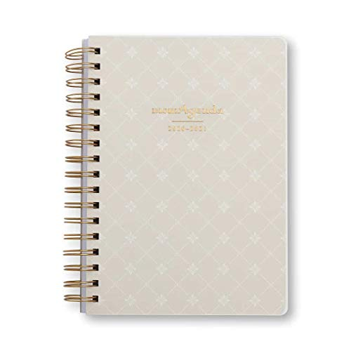 momAgenda Desktop Spiral Day Planner (July 2020 - December 2021) Get Organized for Back to School with The Convenient Week-at-A-View Layout. Quotes Included Each Week for Motivation (Linen Diamond)