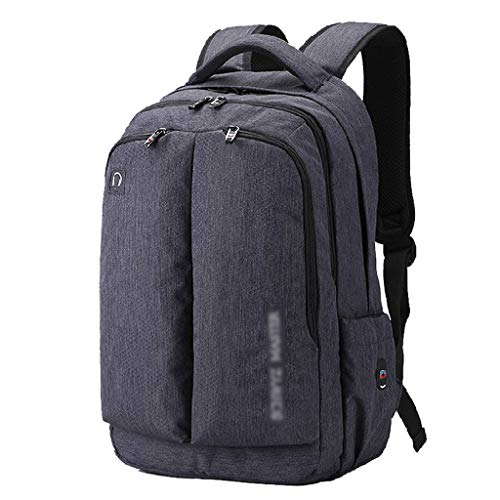 16 Inch Laptop Backpack with Large Compartment Business Backpack for Men Women Teens, Daypack with Headphone Interface (Color : Gray)