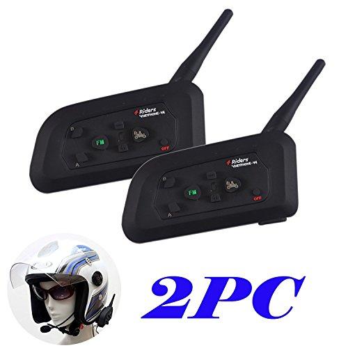 2×V4 Intercomunicador Bluetooth para casco de motoc
