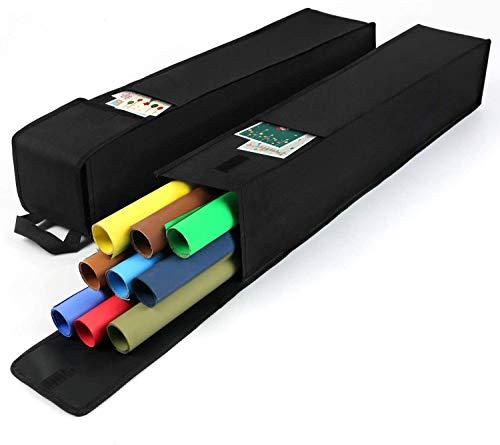 Dokon 2x Aufbewahrungstasche für Geschenkpapier, Wasserdicht, Schwerlast Reißfest 600D Oxford Gewebe Weihnachtspapier Geschenkpapier Aufbewahrung Organizer Tasche (74x13cm) - Schwarz