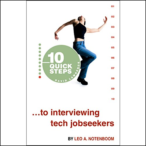 10 Quick Steps to Interviewing Tech Jobseekers cover art