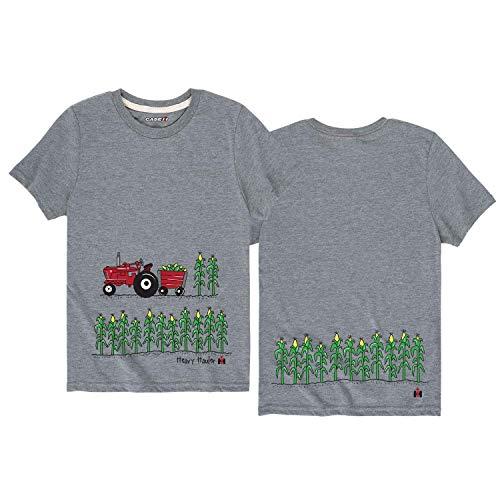 LLeaf Heavy Haulin Farmall IH Red Tractor Rural International Harvester Camiseta para jóvenes,XL