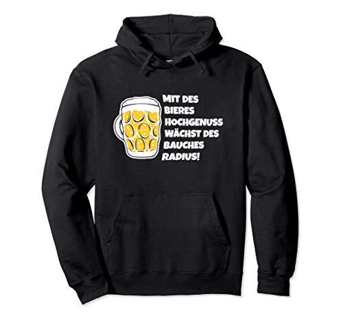 Bier Gedicht Bier Trinker Bierbauch Bierliebhaber Geschenk Pullover Hoodie