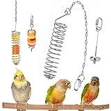 1 Piezas Comedero para pájaros con Cadena+1 Piezas Titular Fruta Pájaro, Acero...