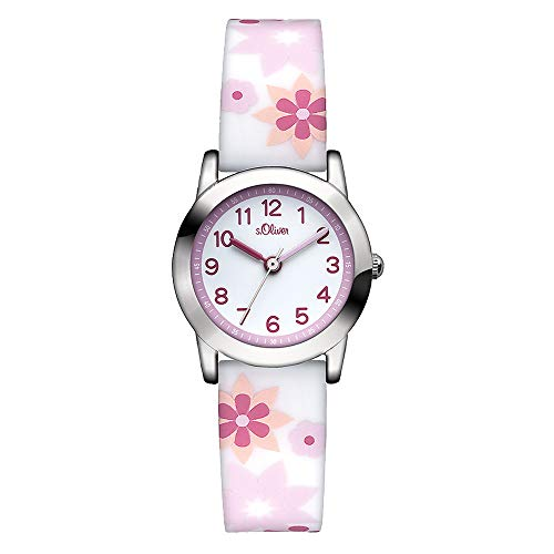 s.Oliver Mädchen-Armbanduhr Analog Quarz Silikon SO-2898-PQ