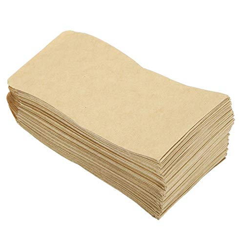 Omabeta Bolsas Kraft Bolsa de Embalaje de Semillas Bolsas de Almacenamiento Kraft 100 Piezas Mano de Obra Fina para maíz Trigo Arroz para el hogar y la Cocina(6 * 11 Adhesive)
