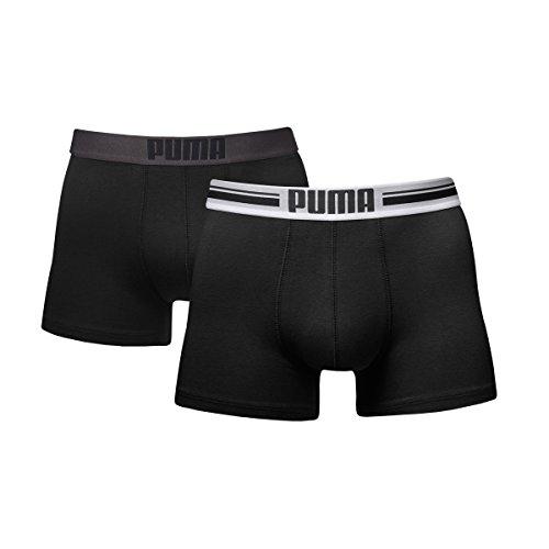 Puma Herren Boxer Shorts Bodywear Placed Logo 2er Pack, black, M, 651003001