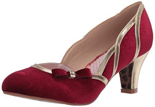 Bettie Page Damen BP250-CAMILLE Pinup, Retro, Vintage, rubinrot, 42 EU