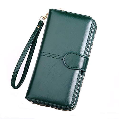 Portafoglio porta carte di credito e portamonete in pelle con cerniera - - taglia unica