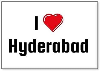I Love Hyderabad, fridge magnet (design 3)