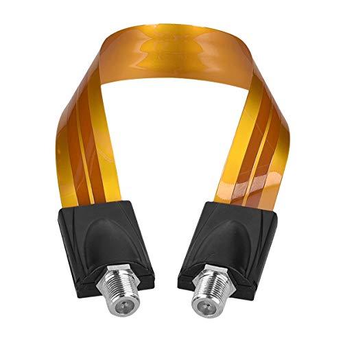 kwmobile Fensterdurchführung SAT Kabel 0,3mm - Flaches Fenster Antennenkabel ohne Bohren - F Kupplung - Flachkabel für Durchführung Koaxialkabel