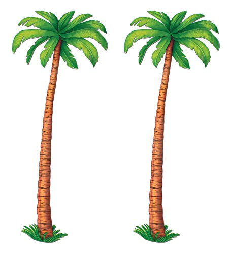 Beistle Jointed Palm Trees, 6', Green/Brown