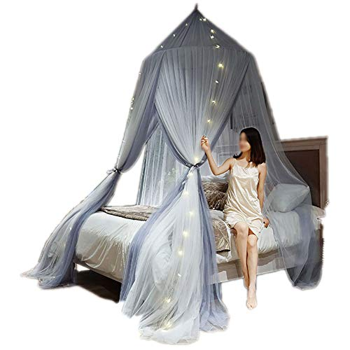 SOYYD Mosquito Net for Bed Canopy Extra Large Tent for Double To King Size Finest Holes Square Netting Curtain 3 Entries Easy To Install Hanging Kit Storage Bag No Chemicals,Style 3