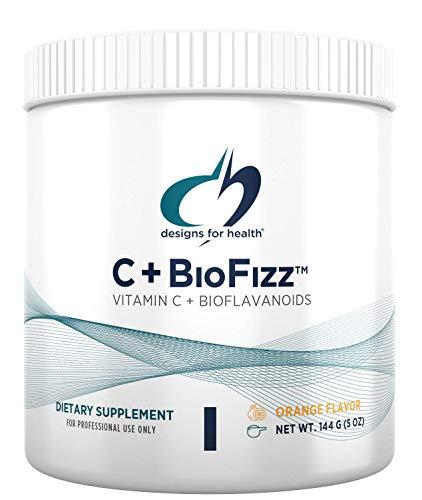 Designs for Health Fizzy Vitamin C Drink Powder - C+BioFizz, High Potency Vitamin C Powder with Bioflavonoids (36 Servings / 144g)