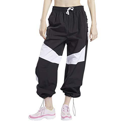 Reebok Damen-Trainingshose mit weitem Bein, Damen, Jogginghose, Workout Ready Meet You There Wide Leg Pant, schwarz, 4X26W