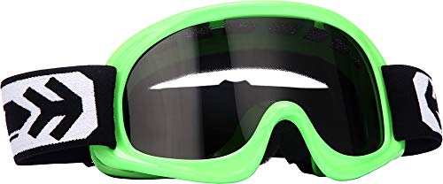Preisvergleich Produktbild Arrow · AG-49 Neon Green (Grün) · Kids Cross-Brille · Schutz-Brille Kinder Sport MX Moto Enduro · (Black / Silver / Clear)
