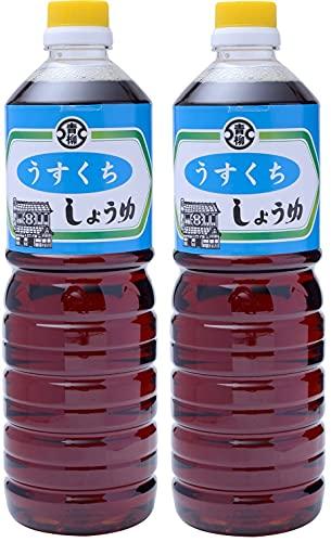 [青柳醤油] うすくちしょうゆ 1L×2/ 醤油 しょうゆ