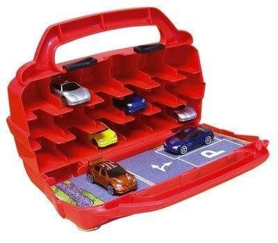 Motormax 78117 78117-Hot Wheels Autosammlerkoffer/Aufbewahrungsbox, Rot