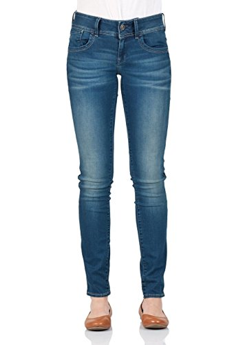 G-STAR RAW Damen Lynn Mid Waist Skinny Jeans, Power Wash, 30W / 32L