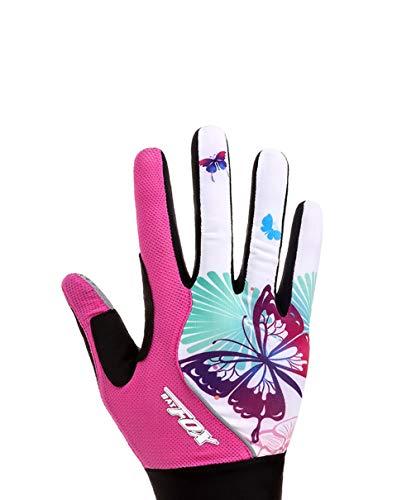 Asolym Handschuhe Damen Outdoor Langfingerhandschuhe Fahrrad atmungsaktiv Sonnenschutz Schock Reithandschuhe