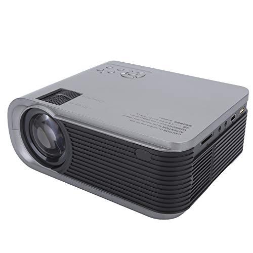 Mini proyector, proyector HiFi de Sonido Puro portátil con Altavoz Doble, proyector 1280x720P para películas en Interiores y Exteriores, Compatible con 23 Idiomas(Negro)