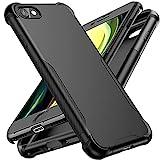 ORETECH Funda Compatible con iPhone 7/8/SE 2020, con [2X Protector de Pantalla de Vidrio Cristal Templado]360 Anti-Arañazos Silicona TPU Hard PC Carcasa Bumper Caso para iPhone 7/8/SE 2020 4,7'-Negro