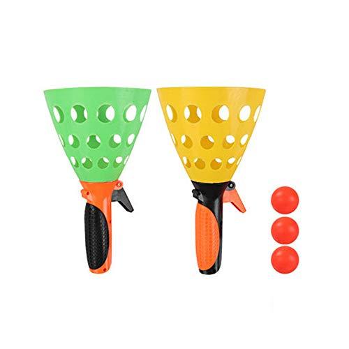 1 set ouder-kind katapult, pingpongbal speelgoedset, gooi de bal interactieve spellen, voor ouder-kind kinderen buiten interactief