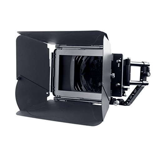 Movo/Sevenoak Professional Matte Box with Swing-Away Arm, French Flags, Side Wings and Universal Anti-Reflection Donut (for 15mm Rod System)