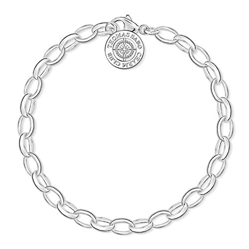 Thomas Sabo Damen-Armband Charm Club 925 Sterling Silber Diamant DCX0001-725-14