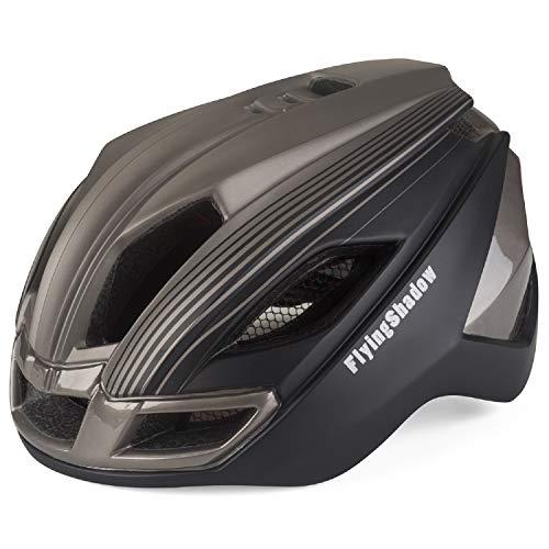 FlyingShadow Skaterhelm Scooter Fahradhelm Sport Helm für Männer & Frauen Erwachsene Urban Fahrradhelm mit Licht für Herren Damen Verstellbar Fahrradfahren