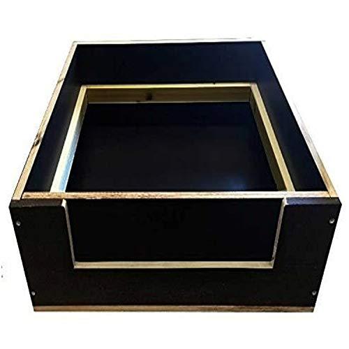 Kaminbau Mierzwa ( df-shopping ) Welpenkiste Wurfbox Massivholz Siebdruck für Hunde & Katzen 125x90cm