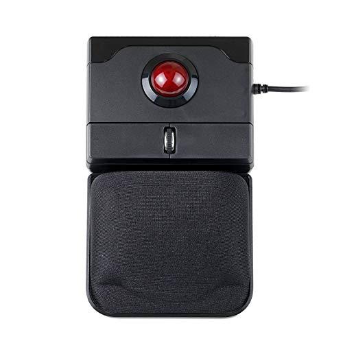 Preisvergleich Produktbild Perixx PERIPRO-506 Maus mit USB Trackball Maus - 100x80x42mm - 25mm Trackball glänzend - ablösbare Gel-Handflächenablage - Roll-Rad