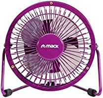 Mack MCF-14 PR Masaüstü Metal USB Fan, Mor