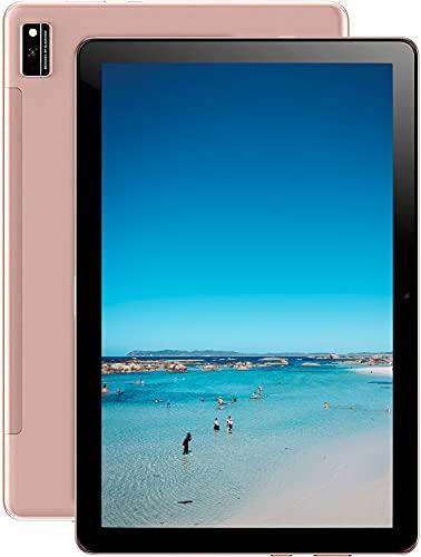 Blackview Tab 10 Tablet 4G LTE + WIFI con 10.1   FHD, Android 11, 4GB RAM + 64GB ROM, 128GB Espandibili, Octa-Core, Batteria 7480mAh, 13MP +8MP, 1920 * 1200, Dual SIM GPS Bluetooth Face ID OTG-Oro
