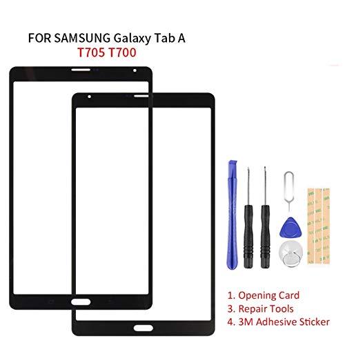 Kit de reemplazo de pantalla Ajuste para Samsung Galaxy Tab S 8,4 T705 T700 Piezas de lentes de panel de vidrio exterior Piezas de la tableta SM-T705 SM-700 kit de reparación de pantalla de repuesto