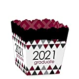 Big Dot of Happiness Maroon Grad - Best is Yet to Come - Party Mini Favor Boxes - Burgundy 2021 Graduation Party Treat Candy Boxes - Set of 12