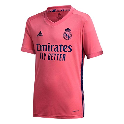 Real Madrid Away Youth Soccer Jersey- 2020/21 (Youth Small) Pink