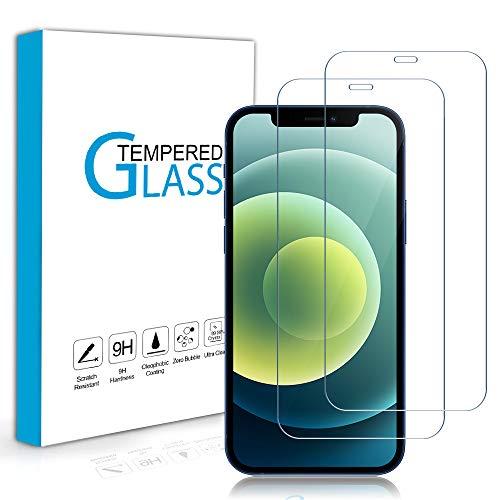 Carantee 2 Stück Panzerglas Schutzfolie Kompatibel mit iPhone 12 mini (5.4''), 9H Härte, Blasenfrei Kratzfest Panzerglasfolie, Anti-Staub Anti-Öl HD 2.5D Rand Hüllefreundlich Displayschutzfolie