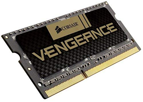 Corsair CMSX8GX3M1A1600C10 Vengeance High Performance Memoria per Notebook da 8 GB (1x8 GB), DDR3, 1600 MHz, CL10, SODIMM, 1.5 V, Nero